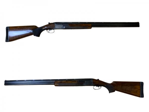 Luxus Bockdoppelflinte Browning 25 Kal. 12/70