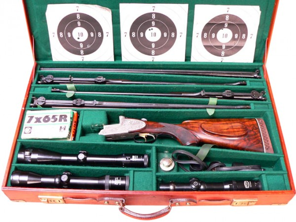 Ferlacher Kipplaufbockwaffe mit 4 Laufbündeln